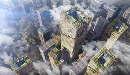 高さ350メートルの木造超高層建築物のイメージ.jpg